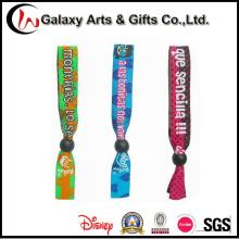 Linga em cinta logotipo personalizado pano tecido poliéster pulseiras/pulso