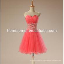 2017 vestido de noche de la tostada de la boda vestido corto de color rojo sandía TUTU falda vestido de noche de túnica de soirée