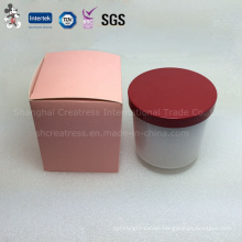 Novel Design Personalized Scented Glass Candle with Metal Lid