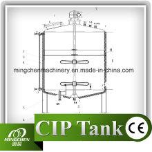 Réservoir de stockage d'acier inoxydable de 100L-20000L avec des roulettes / réservoir mobiles de stockage