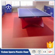 Revêtement de sol en plastique pvc de tennis de table de sports professionnels