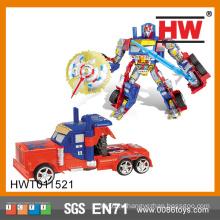 Интеллектуальная игрушка строительного блока Wiht Music & Light Trans Robot Toy Car