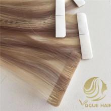 Extensões de cabelo de fita PU com preço de atacado