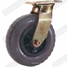 Heavy Duty Foaming Rubber Swivel Caster (Black) (GD4220)