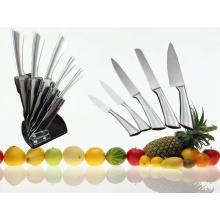 Cuchillo de cocina de la manija del acero inoxidable 5PCS fijado (SE-3569)