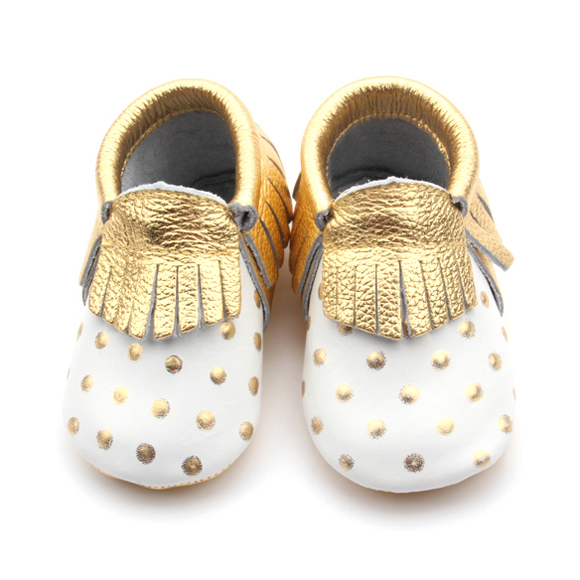 Soft leather Baby Tassel Shoes Moccasins