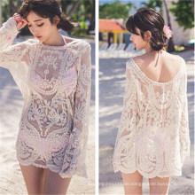 Koreanischen Stil Bikini Kleid Shirt Bluse Strand trägt (50167)