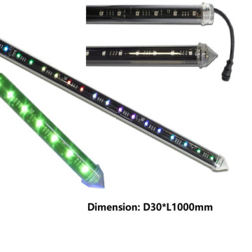 30mm DC15V 360Degree RGB DMX 3Dチューブ