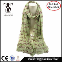 NEW MATERIAL blended material with flocking soft feel scarf big size shawl