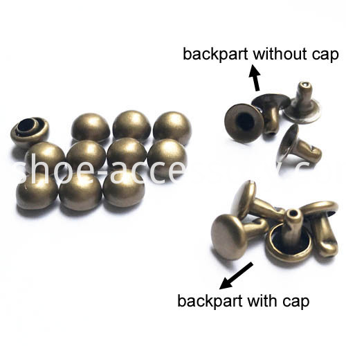 half ball rivet with backpart