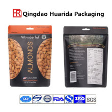 Customized Printing Stand up Nut Food Packaging Bag with Zipper