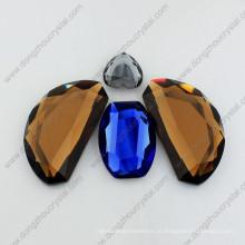 Нерегулярные зеркало стеклянные бусины ювелирных изделий, камни для ювелирных изделий Ornanment