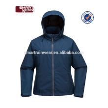 Frauen Kleidung Fabrik Kapuze Muster Tops mit Sportbekleidung wasserdicht alle Wetter Shell Regenjacke