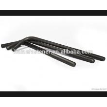 Черный L-образный крюк из углеродистой стали