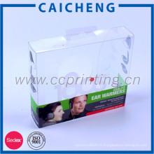 Petit pas cher pliable boîte d'emballage en plastique dur transparent