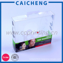 Small cheap foldable clear hard plastic packaging box