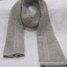 Fábrica de oferta de inverno lenço de caxemira puro malha 100% casmere cachecol