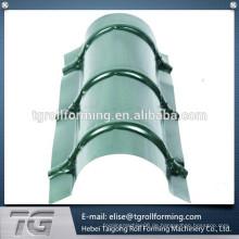 Einfache Bestellung Prozess Metall Dach Ridge Cap Making Machine mit vielen profitieren