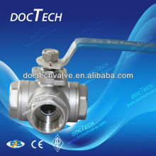 Mini T/L Type 3-Way Stainless Steel Bsp Threaded Ball Valve China Distributor