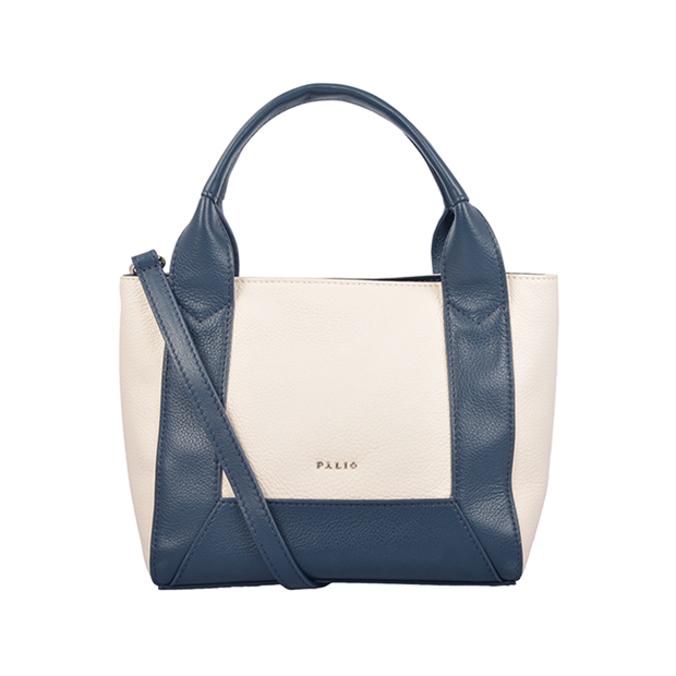 grain leather contrast color fashion luxury tote bag