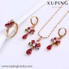 61524-Xuping Beautiful Wedding Jewelry Crystal Stone Bridal Set