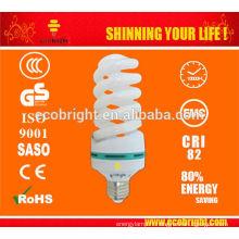 CHAUD! T4 plein spirale cfl lampe ampoule 10000H CE qualité