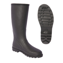 Fashion Rubber Cowboy Rain Boots Pure Color