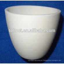 Crisol de cerámica con forma de arco de porcelana Al2O3 ZrO2 de alta calidad