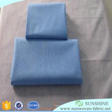 Hoja de cama de tela no tejida desechable precortada de polipropileno