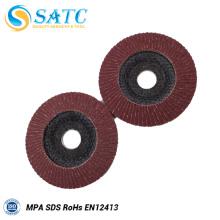 O logotipo personalizou o disco abrasivo da aleta de 5 polegadas com preço relativo à promoção