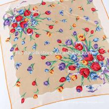 Lady Stole tulipanes flores Jacquard moda bufanda