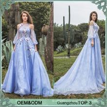 Custom wedding guest dress plus size purple blue wedding guest dresses popular in UK long sleeve frocks