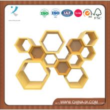 Wooden Modern Honeycomb Vitrine