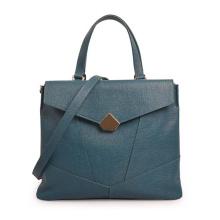 Leather satchel bag messenger bag MONOGRAMMED Leather