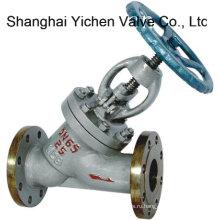 Литая сталь Y типа Фланцевый запорный клапан