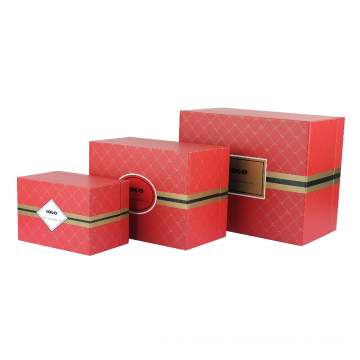 Red Printed Apparel Premium Gift Box yang tegar