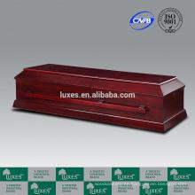 Ataúdes en línea de LUXES cremación madera ataúd para la venta