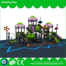 Kinder spielen Set Outdoor-Spielplatz Ausrüstung mit Kunststoff-Folien und Swing