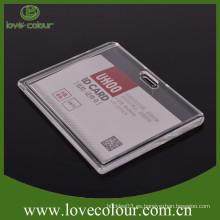 De alta calidad pero barato titular de la tarjeta de plástico rígido transparente