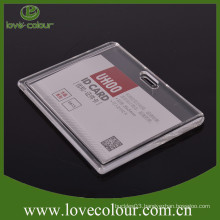 High quality but cheap clear rigid plastic card holder