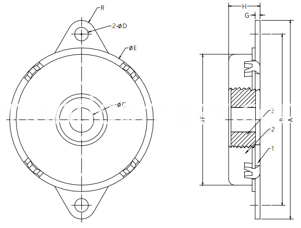 Rotary Damper for Theater Seat