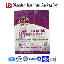 Bolsas de empaquetado negras impresas de la semilla de Chia que empaquetan el bolso
