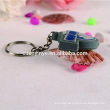 Benutzerdefinierte weichem Vinyl Werbung led-Schlüsselanhänger Taschenlampe