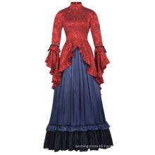 Belle Poque Retro Vintage Steampunk Victorian Edwardian Downton Abbey Long Maxi Dress BP000365-1