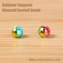 Perles réflexes en arc-en-ciel Tungsten Perles en forme de diamant