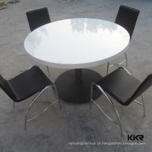 tamanho grande multifuncional da superfície contínua mesas de centro redondas do escritório do entretenimento