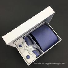Silk Jacquard High Quality Cufflink Hanky Mens Tie Sets