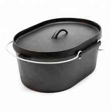 Wholesale Camping Cast Iron Cookware Oval Dutch Oven