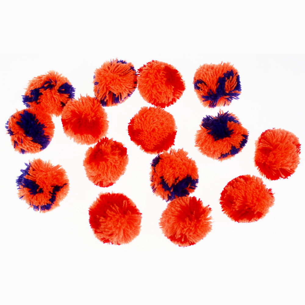 Multi color cashmere pompom