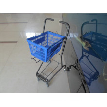 Shopping Basket Trolley Plastic Basket Cart